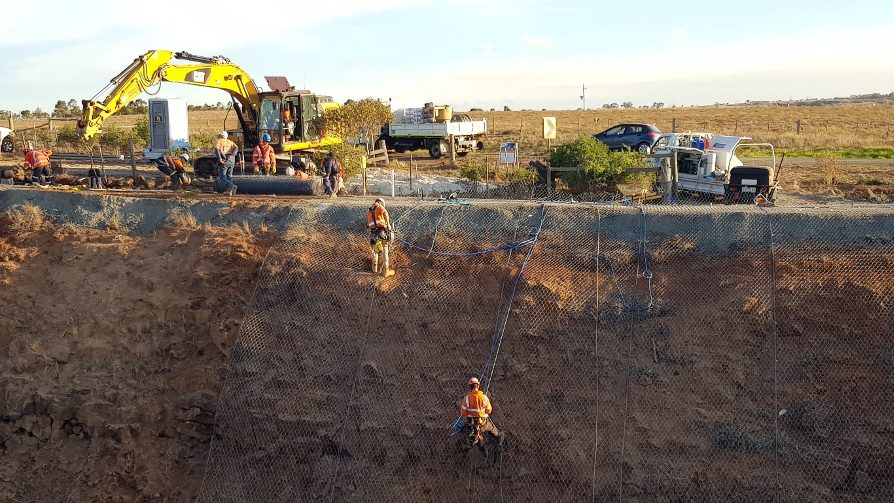 Geotechnical Rope Access Services - Rock Scaling - Rock Scaling - Rock Removal - Rock Meshing - Rock Bolting - Geologist Support - Geologist Mapping - Inspections - Hazard Reports - Devegetation