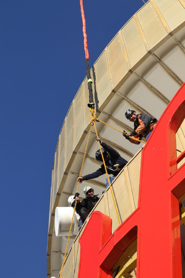Industrial Rope Access - Sky Signage Installation - Rigging - Riggers