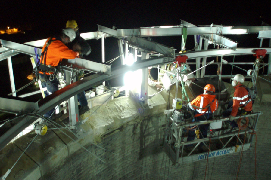 Industrial Rope Access - Rigging - Riggers - Structure Installation